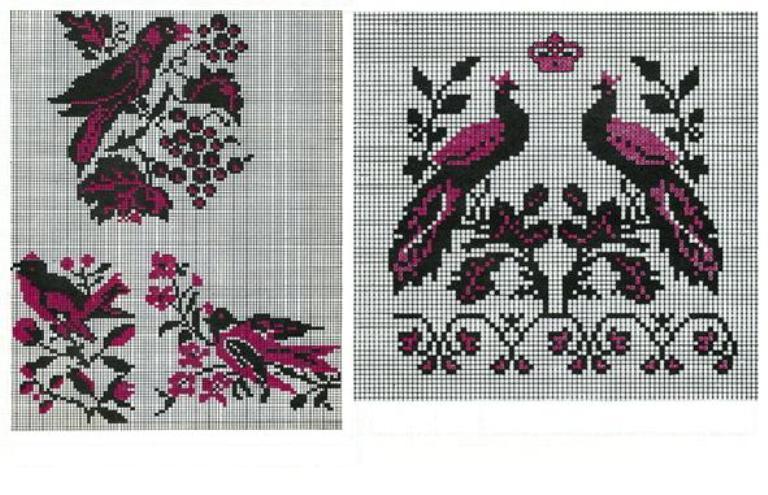Особливо багаті на символіку птахів рушники Середньої Наддніпрянщини. Різні  птахи виспівують на них a489686b882cc
