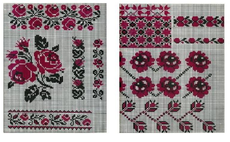 Пишні ружі рясно розквітли на сорочках і рушниках багатьох областей  України. Мотив ружі вважається не дуже давнім bf9102b30391b